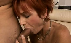 Amateur granny in first porn shoot