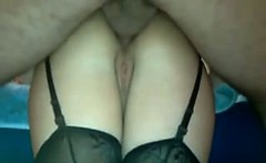 deep anal fucking my wife at home