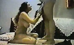 Vintage arab amateur couple make hard homemade anal