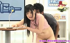 Asian news hottie fucked by dudes