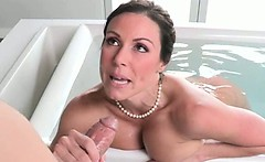 Brunette MILF And Teen Girl Make A Great Blowjob Team