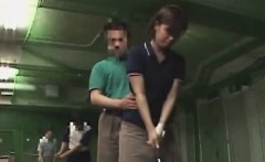 Subtitled Japanese golf swing erection demonstration