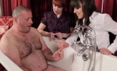 Voyeur mistresses mock his small cock