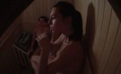 Hidden Cam Three Girls Relax in Sauna