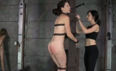 Tongue clamped sub gets caned