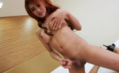 Asian tranny chick Nice jacks off cock