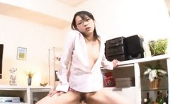 Hot Asian schoolgirl masturbates