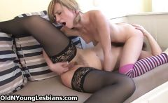 Old and horny lesbians are licking