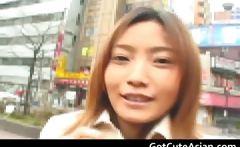 Hot Japanese Exhibitionist Schoolgirl