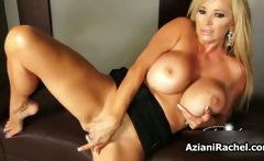 Rachel Aziani with her massive big