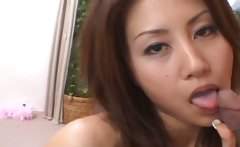 Asian Bitch Gets Jizzed On Her Tits And Arm
