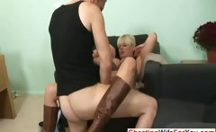 Horny blonde slut fucked hard
