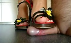 Flower Heels shoejob