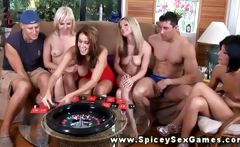 Real college party spicy sex roulette