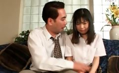 Shy asian teen punished for having done a bad thing