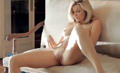 enchanting blonde with natural tits