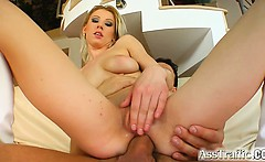 Her tight sexy little ass gets fucked by a big cock. Watch